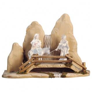 Brücke Holzfigur geschnitzt Südtirol Krippenfigur Ulrich Krippe