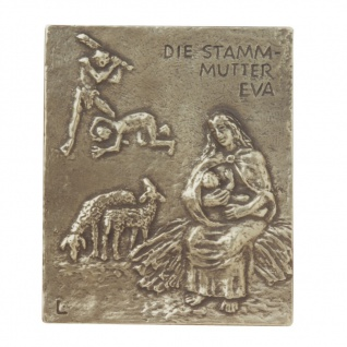 Namenstag Eva Bronzeplakette 13 x 10 cm Bronzerelief Wandbild Schutzpatron