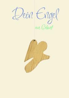Geburtskarte Engel, Dein Engel zur Geburt (5 Stck) Psalm Bibel Glückwunschkarte
