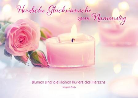 Postkarte Namenstag Irmgard Erath Gratulation Glückwunsch (10 Stück) Adressfeld