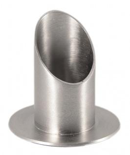 Kerzenständer Messing poliert vernickelt Kerze Ø 5 cm Kerzenhalter Kommunion