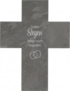 Wandkreuz zur Hochzeit Kruzifix Ehe Heirat Schiefer Kreuz Geschenkverpackung