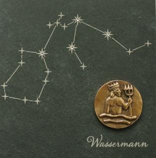 Wandrelief Sternzeichen Wassermann Schiefer Swarovski Schiefertafel