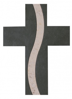Wandkreuz Schiefer Jura Marmor 30 cm Schmuckkreuz Kruzifix Christlich