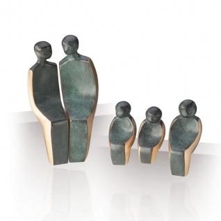 Bronzeskulptur Familie 5 teilig 15 cm Bronze Figurengruppe Statue Skulptur