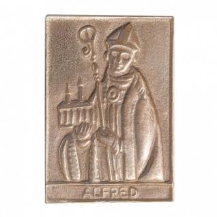 Namenstag Alfred 8 x 6 cm Bronzeplakette Bronzerelief Wandbild Schutzpatron