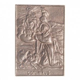 Namenstag Dominikus 8 x 6 cm Bronzeplakette Bronzerelief Wandbild Schutzpatron