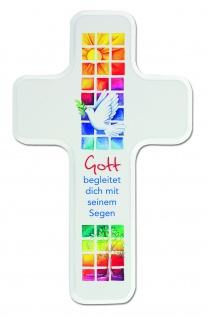 Kinderkreuz Gott begleitet dich 18 cm Wandkreuz Kommunion Segen Holzkreuz