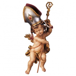 Bischofsputte Holzfigur geschnitzt Südtirol Puttenfigur