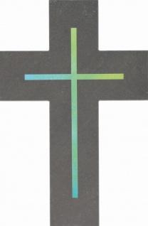 Wandkreuz Kruzifix 20 cm Kreuz Schiefer Geschenkverpackung