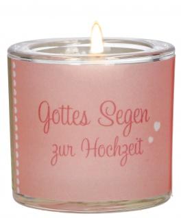 Windlicht Hochzeit Glas Teelicht Geschenkverpackung Pergament-Umleger