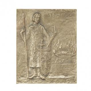 Namenstag Theodor 13 x 10 cm Geschenk Bronzerelief Wandbild Schutzpatron
