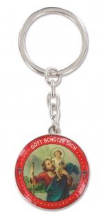 Schlüsselanhänger Christophorus 3, 7 cm Metall Christopherus Anhänger