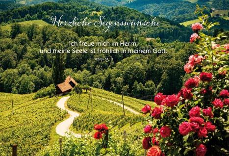 Glückwunschkarte Geburtstag 6 St Kuvert Bibelwort Jesaja Segens-Wunsch Freude