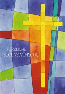 Glückwunschkarte Herzliche Segenswünsche (6 St) Kreuz Priesterjubiläum Exodus