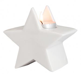 Porzellan-Figur Stern mit Teelicht 9, 5 cm