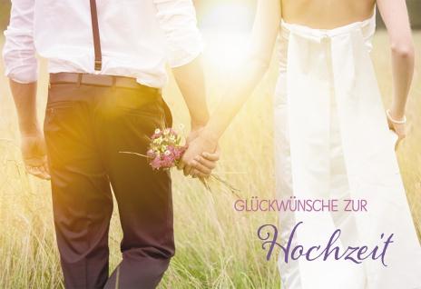 Glückwunschkarte Glückwünsche zur Hochzeit (6 St) Brautpaar Hermann Hesse