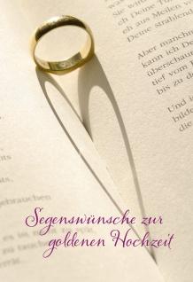 Hochzeitskarte Segenswünsche Goldene Hochzeit (6 St) Grußkarte Kuvert