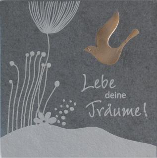 Wandrelief Lebe deine Träume! 14, 5 x 14, 5 cm Schiefer
