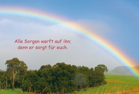 Grußkarte Bibelwort 6 Stück Kuvert Lutherbibel Gott Regenbogen Glauben