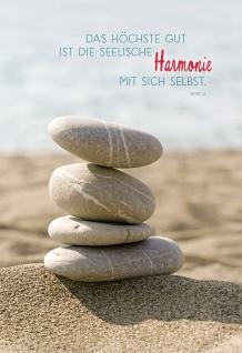 Klappkarte Seneca Sinnspruch Harmonie (6 Stck) Grußkarte Kuvert Lebensweisheiten