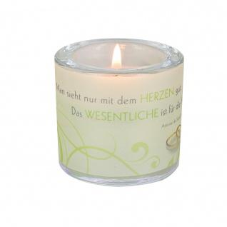 Glaswindlicht Herzen inkl. Teelicht Kerzenhalter Geschenkbox Glas für Windlicht