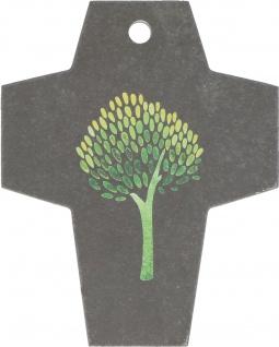 Kreuz Lebensbaum Motiv Schiefer 10 cm Sakral Wandkreuz Kruzifix Schmuckkreuz