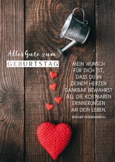 Postkarte Geburtstag Irischer Segenswunsch Herzen 10 St Wunsch Dankbarkeit Leben