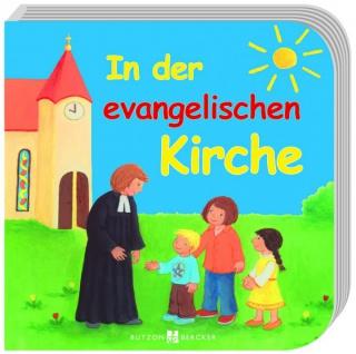 In der evangelische Kirche, Kinder-Bilderbuch Christliche Bücher
