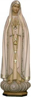 Madonna von Fatima Holzfigur geschnitzt Südtirol Maria Mutter Gottes Figur - Vorschau 1