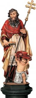 Kardinal mit Putte Holzfigur geschnitzt Südtirol