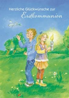 Glückwunschkarte Herzliche Glückwünsche zur Erstkommunion mit Kuvert 6 Stück