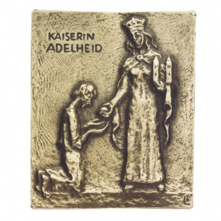 Namenstag Adelheid Bronzeplakette 13 x 10 cm Namenspatron