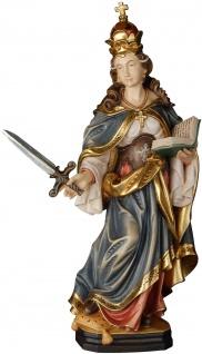 Heilige Susanne mit Schwert Holzfigur geschnitzt Südtirol Schutzpatron Märtyrerin
