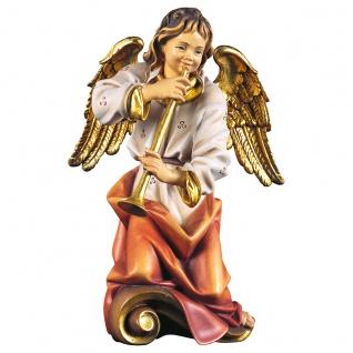Chorengel mit Flöte Holzfigur geschnitzt Engelfigur Südtirol