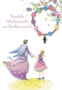 Kommunionkarte Armband (5 Stck) Glückwunschkarte Erstkommunion Kuvert