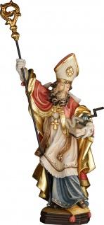 Heiliger Dietmar mit Gedärmewinde Heiligenfigur Holz geschnitzt Schutzpatron