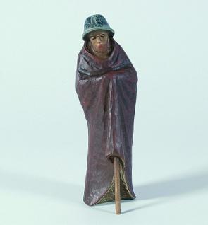 Gelenberg Krippe Hirte alt bunt bemalt 18 cm Krippen Figur Weihnachten