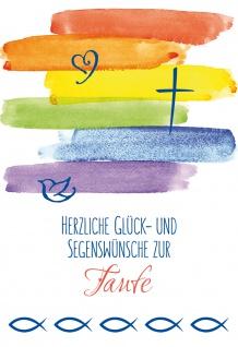 Glückwunschkarte Taufe 6 St Kuvert Bibelwort Mose Lutherbibel Glück Segen Kreuz