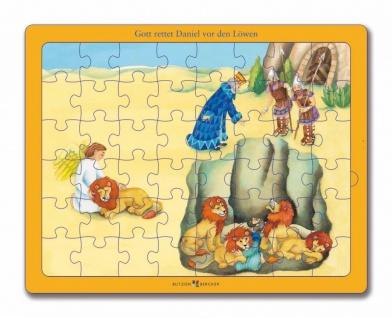 Puzzle Gott rettet Daniel vor den Löwen Christliche Bücher