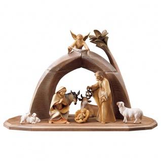 Heiland Krippe Set 11 Teile Holzfigur geschnitzt Südtirol Weihnachtskrippe - Vorschau