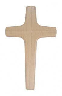 Wandkreuz Holzkreuz Buche Kruzifix Kreuz Kreuzgravur 20 cm Christoph Fischbach