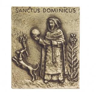 Namenstag Dominikus Bronzeplakette 13x10 cm