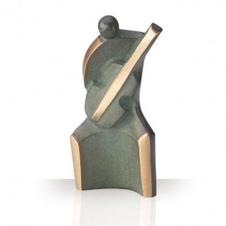 Bronzeskulptur Gitarrist 12 cm patiniert Bronze Figur Statue Skulptur