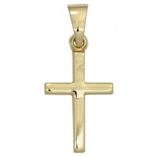 Schmuckkreuz schlicht Kreuz 333 Gelbgold Kreuz-Anhänger