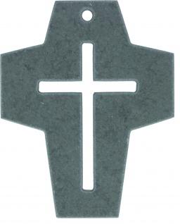 Schieferkreuz mit Kreuz Motiv durchbrochen Wandkreuz Kruzifix 10 cm