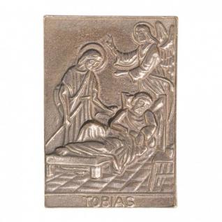 Namenstag Tobias 8 x 6 cm Bronzeplakette Bronzerelief Wandbild Schutzpatron