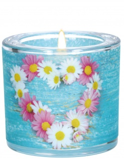 Windlicht Geburtstag Glas Ralph Waldo Emerson Teelicht Geschenk Blumen