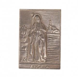 Namenstag Angela 8 x 6 cm Bronzeplakette Bronzerelief Wandbild Schutzpatron
