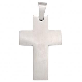 Anhänger Kreuz Edelstahl mattiert Edelstahlkreuz